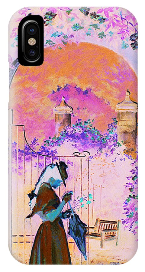 Rose IPhone Case featuring the painting Afternoon Stroll by Jean Hildebrant
