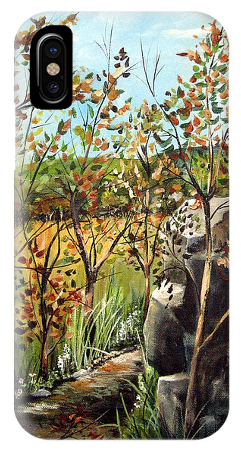 IPhone X Case featuring the painting Afternoon Stroll by Ruth Palmer