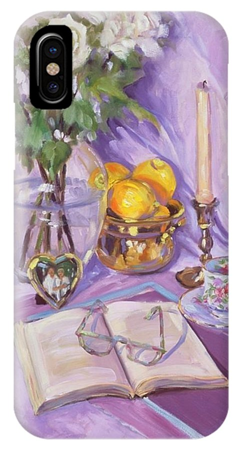 Still Life IPhone Case featuring the painting Afternoon Tea by Laura Lee Zanghetti