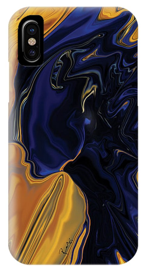 Abstract IPhone Case featuring the digital art Against The Wind by Rabi Khan