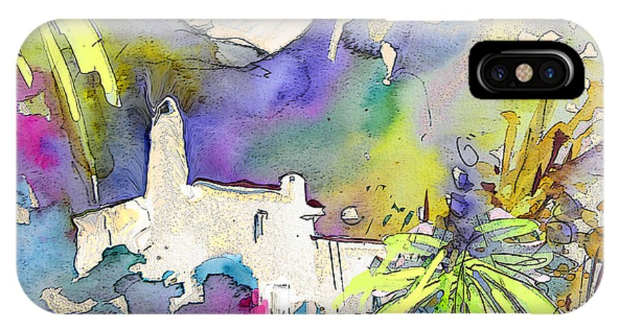 Agua Amarga Fantasy IPhone X Case featuring the painting Agua Amarga Fantasy 02 by Miki De Goodaboom