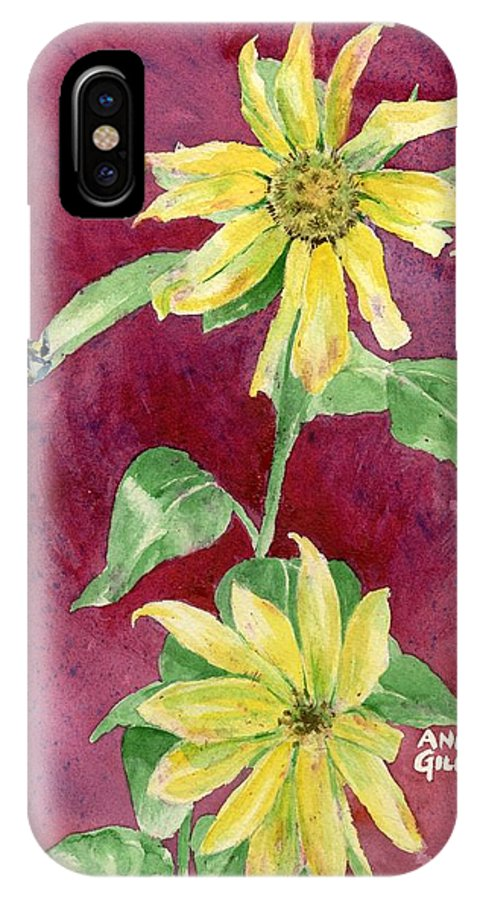 Sunflower IPhone Case featuring the painting Ah Sunflowers by Andrew Gillette