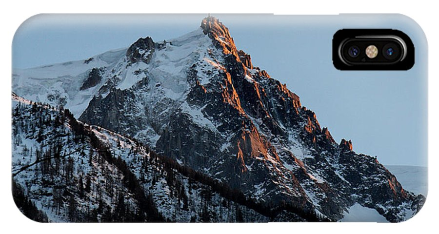 Chamonix IPhone X Case featuring the photograph Aiguille Du Midi Chamonix French Alps by Pierre Leclerc Photography