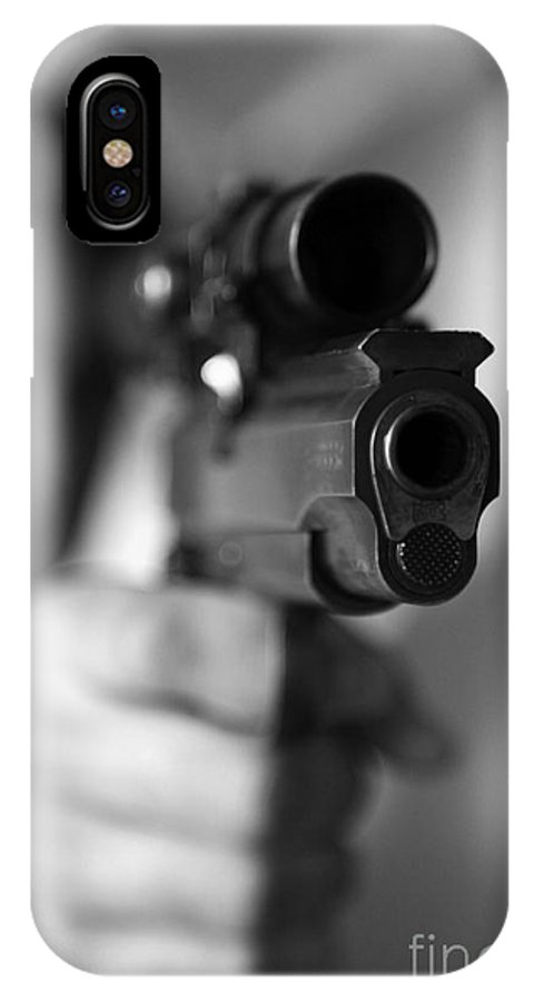 Sports IPhone X Case featuring the photograph Aim by Amanda Barcon