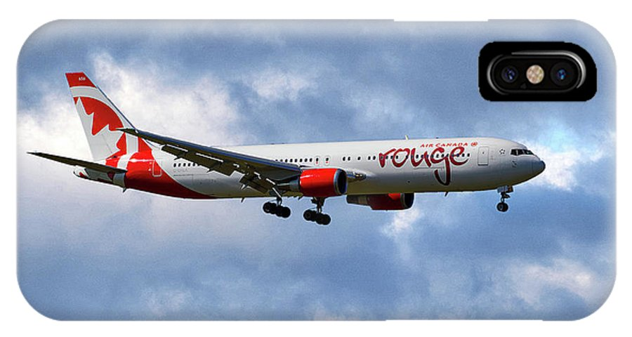 Air Canada IPhone X Case featuring the photograph Air Canada Rouge Boeing 767-35h 118 by Smart Aviation