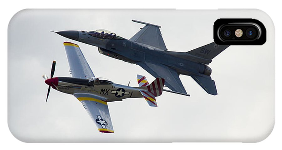 F-16 IPhone X / XS Case featuring the photograph Air Force Heritage Flight by Brian Jordan