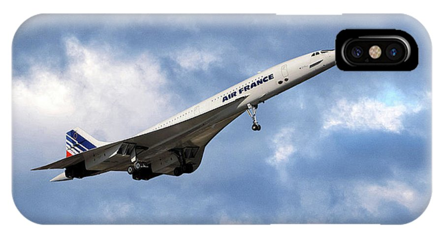 Air France IPhone X Case featuring the photograph Air France Concorde 118 by Smart Aviation