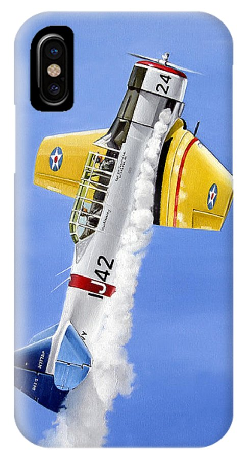 Military IPhone X Case featuring the painting Air Show by Marc Stewart