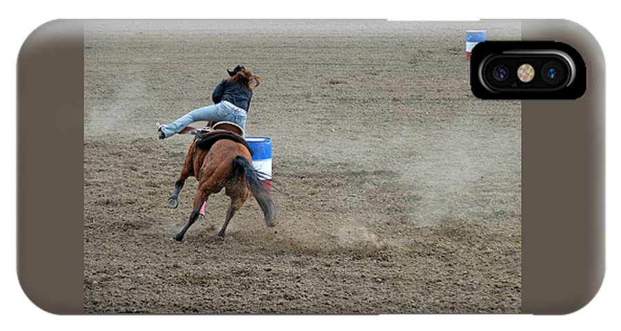 Horse IPhone X Case featuring the photograph Airborne by Fay Geddes