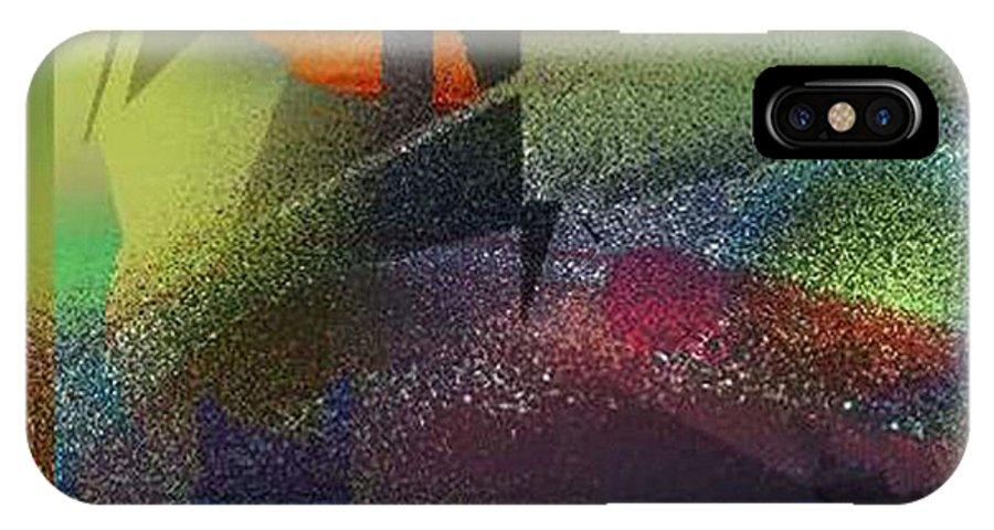 Digital IPhone X Case featuring the digital art Airbrush by Ilona Burchard
