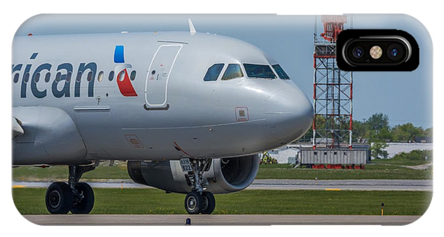 Airbus IPhone X Case featuring the photograph Airbus A319 On Taxi by Guy Whiteley