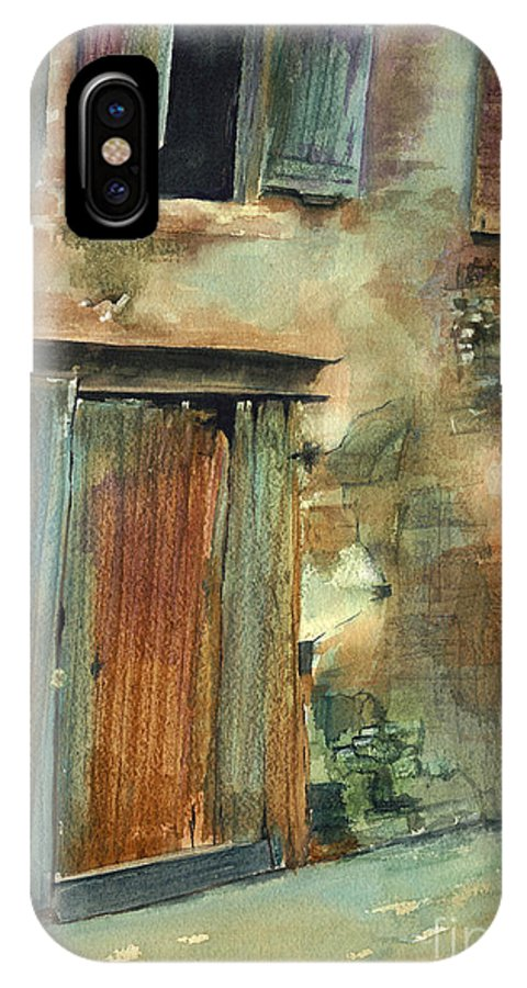 Landscape Canvas Print IPhone Case featuring the painting Aix-en-provence by Madeleine Holzberg