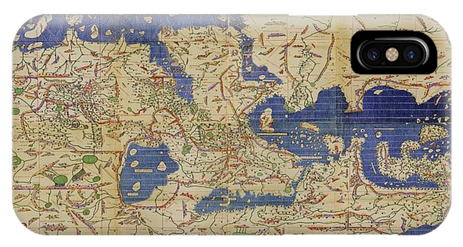 Earth IPhone X / XS Case featuring the photograph Al-idrisi's World Map, 1154 by Library Of Congress, Geography And Map Division