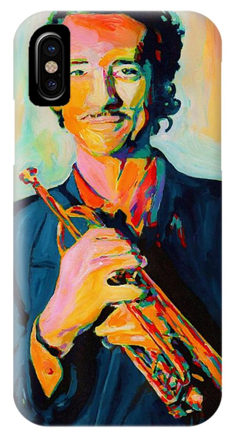 Big Band IPhone X Case featuring the painting Al Vizzitti by Vel Verrept