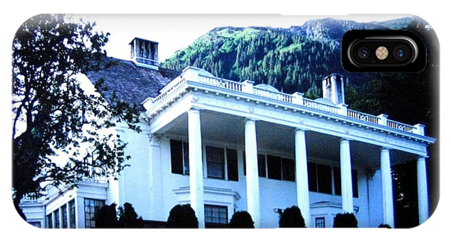 Alaska IPhone X Case featuring the photograph Alaska Governors Mansion by Will Borden