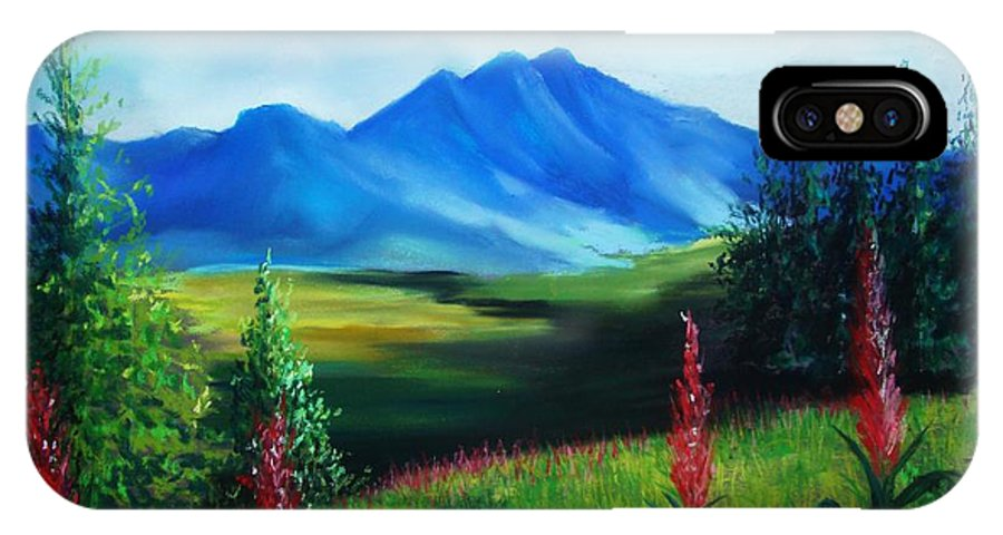 Alaska IPhone Case featuring the pastel Alaska by Melinda Etzold