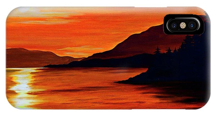 Alaska IPhone X Case featuring the painting Alaska by Renita Confer