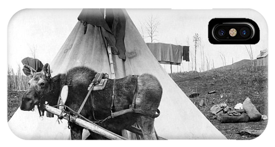 1916 IPhone X Case featuring the photograph Alaska: Tepee, C1916 by Granger