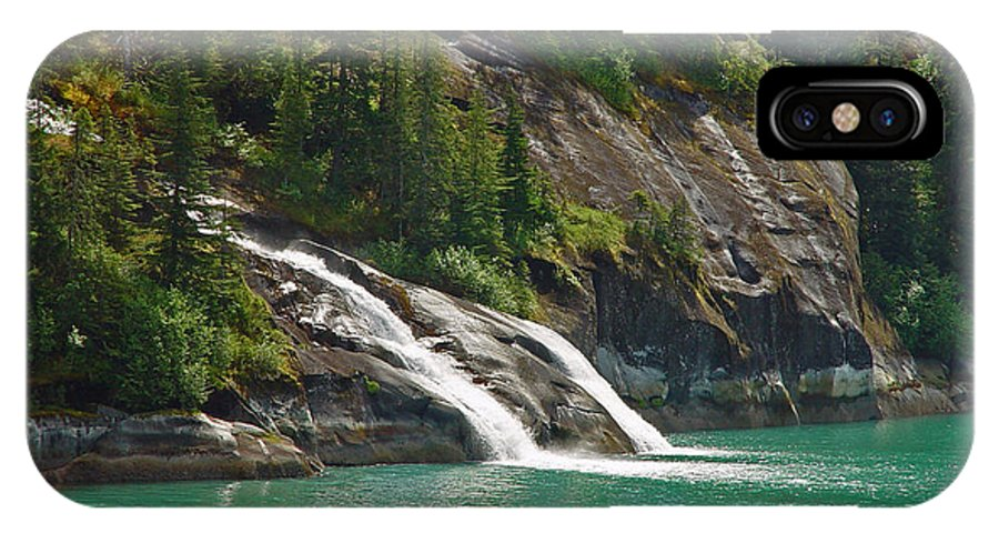 Waterfall IPhone X Case featuring the photograph Alaska Tracy Arm by Heather Coen