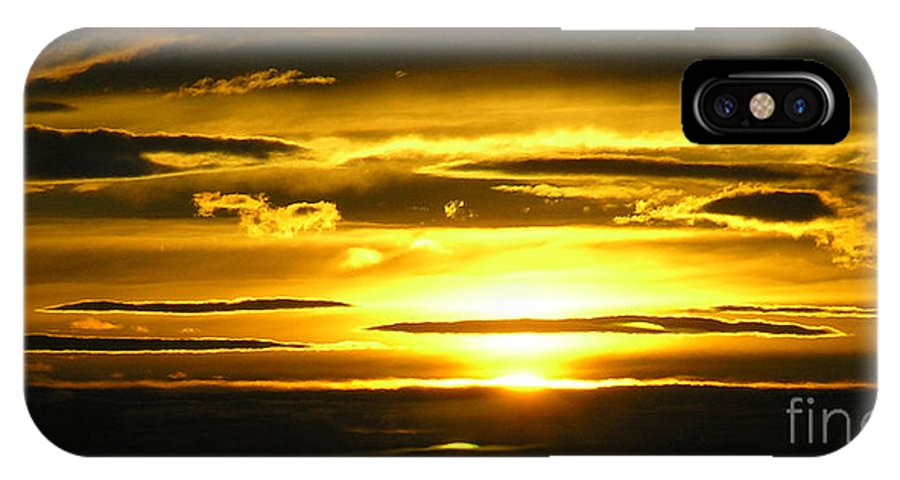 Sunset IPhone Case featuring the photograph Alaskan Sunset by Louise Magno