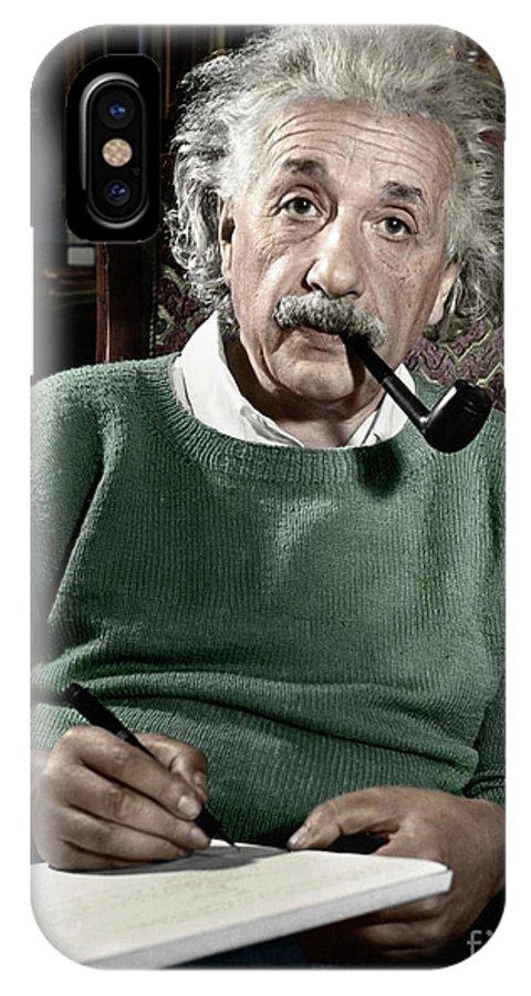 1940 IPhone X Case featuring the photograph Albert Einstein by Granger