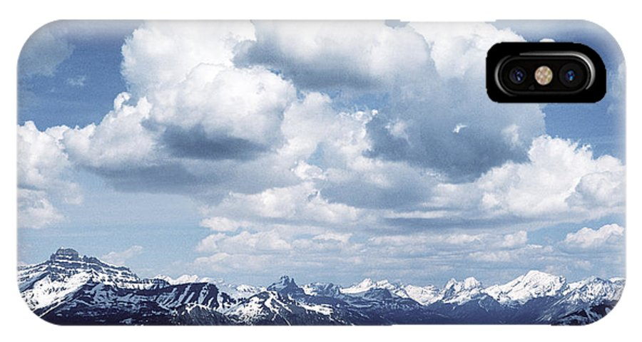 Rocky Mountains IPhone X Case featuring the photograph Alberta Mountain Panorama by Steve Somerville
