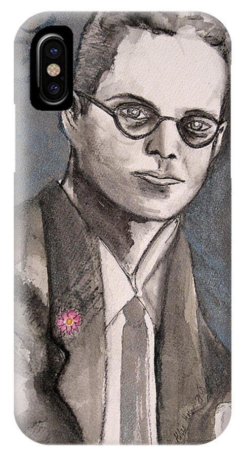 Aldous Brave Darkestartist Huxley New Painting Portrait Watercolor Watercolour World IPhone Case featuring the painting Aldous Huxley by Darkest Artist
