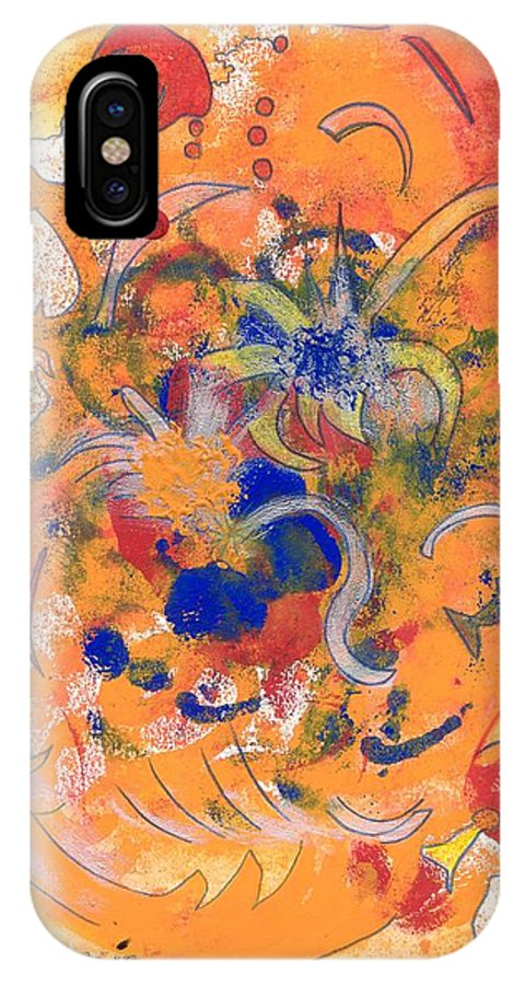Alegria IPhone X Case featuring the mixed media Alegria by Michael Puya