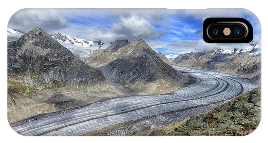 Aletsch Glacier IPhone X Case featuring the photograph Aletsch Glacier, Switzerland by Ivan Batinic