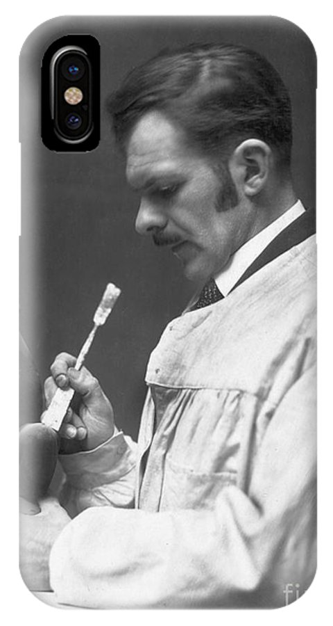 1920s IPhone X Case featuring the photograph Alexander Archipenko by Granger