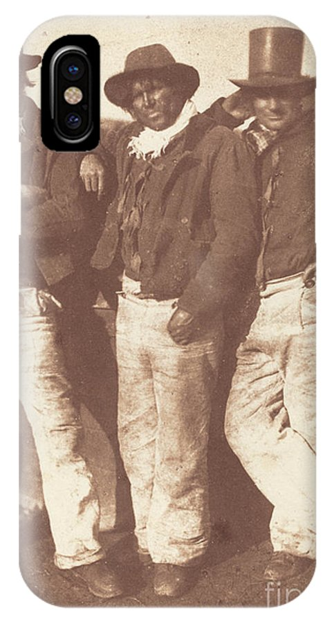 IPhone X Case featuring the photograph Alexander Rutherford, William Ramsay And John Linton by David Octavius Hill And Robert Adamson