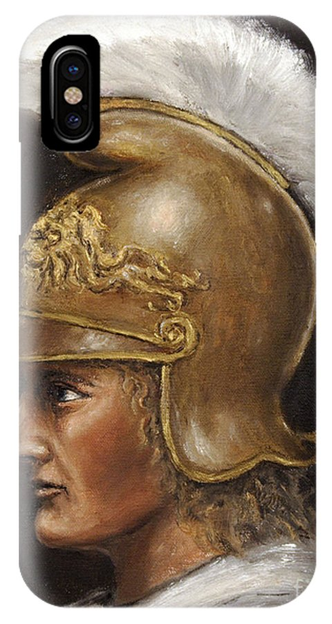 Warrior IPhone X Case featuring the painting Alexander The Great by Arturas Slapsys