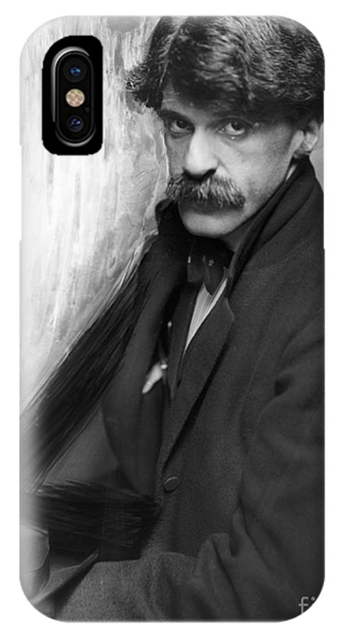 1902 IPhone X Case featuring the photograph Alfred Stieglitz (1864-1946) by Granger