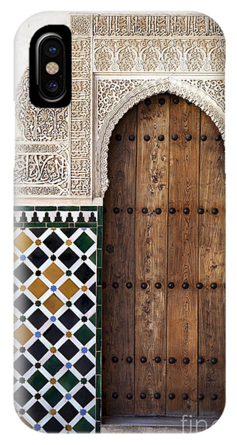 Alhambra IPhone X Case featuring the photograph Alhambra Door Detail by Jane Rix