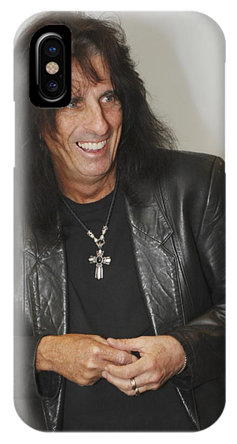 Alice Cooper IPhone X Case featuring the photograph Alice Cooper Happy by Jill Reger