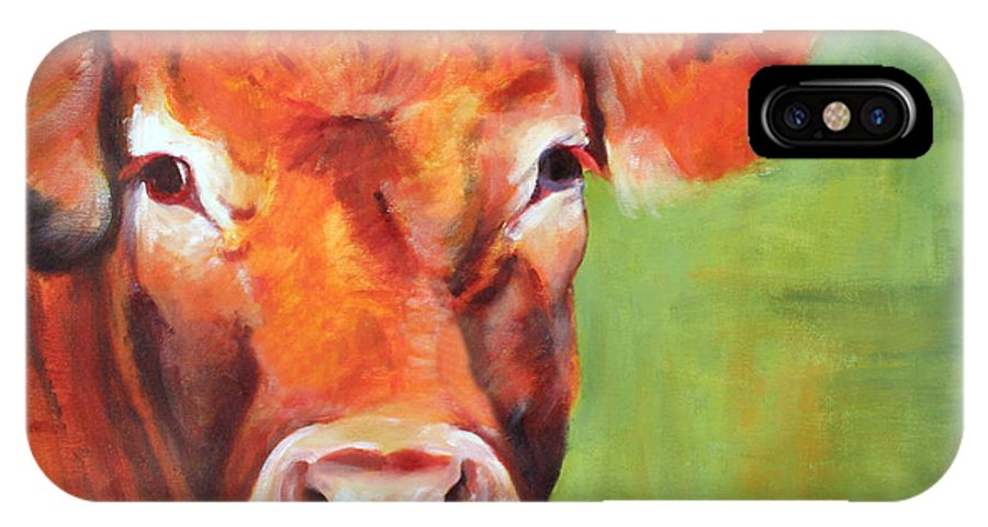 Limousine IPhone X Case featuring the painting Alice by Fiona Jack