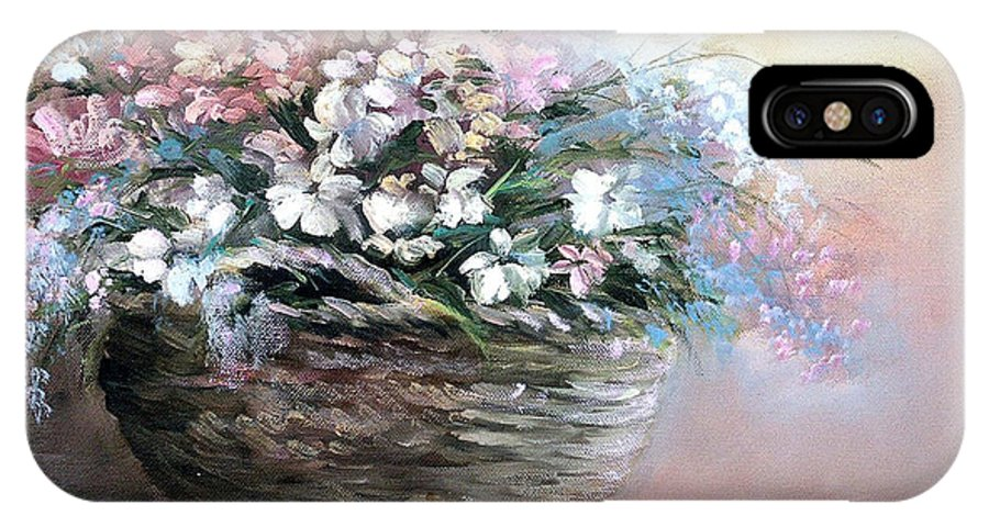 Flowers. Bouquets IPhone X Case featuring the painting Alice's Bouquet by Sally Seago