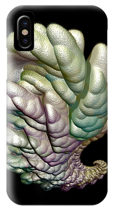 Fractal IPhone Case featuring the digital art Alien Brain by Frederic Durville