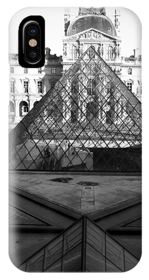 Pyramids IPhone Case featuring the photograph Aligned Pyramids At The Louvre by Donna Corless