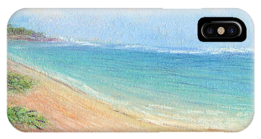 Rainbow Colors Pastel IPhone X Case featuring the painting Aliomanu Beach by Kenneth Grzesik