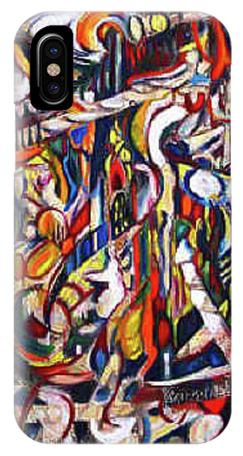 Imagination IPhone X Case featuring the painting Alive by Robert Gravelin