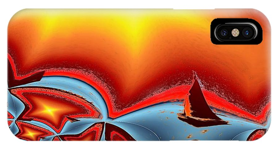 Sail IPhone X Case featuring the photograph Alki Sail Under The Sun 2 by Tim Allen