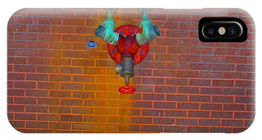 Photograph IPhone X Case featuring the photograph All Alone Red Pipe by Thomas Valentine