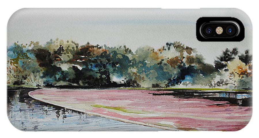 Cranberries IPhone X Case featuring the painting All Bogged Down by P Anthony Visco
