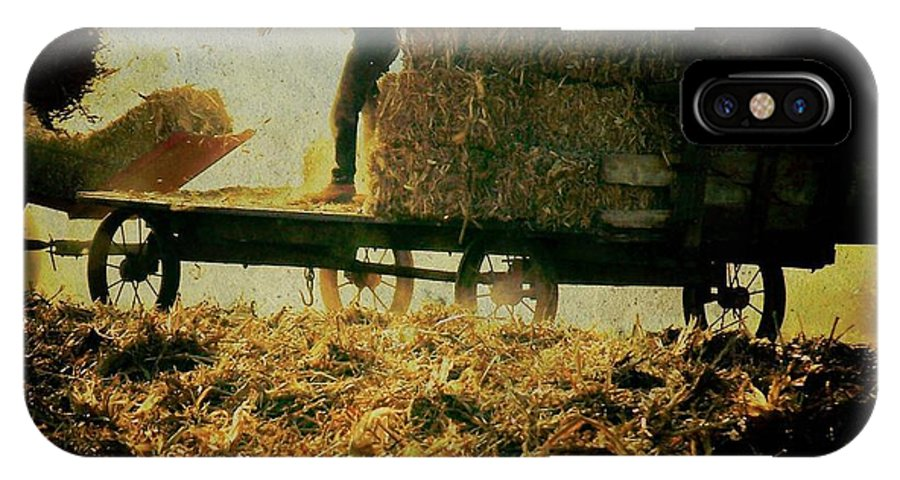 Amish IPhone X / XS Case featuring the photograph All In A Day's Work by Trish Tritz