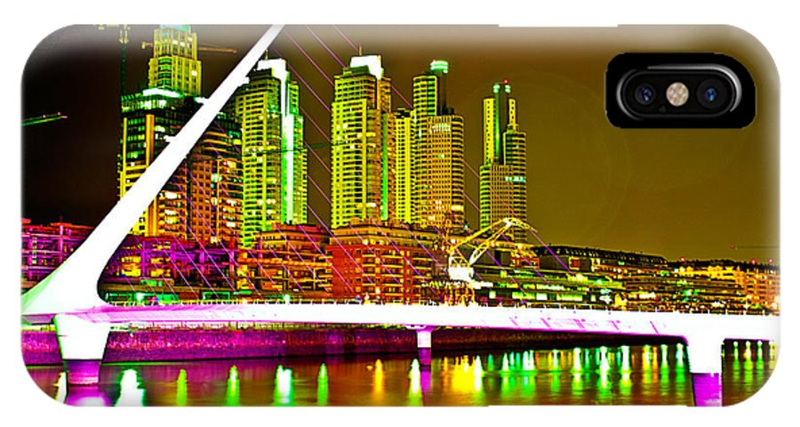 Buenos IPhone X Case featuring the photograph All Night Puerto Madero by Francisco Colon