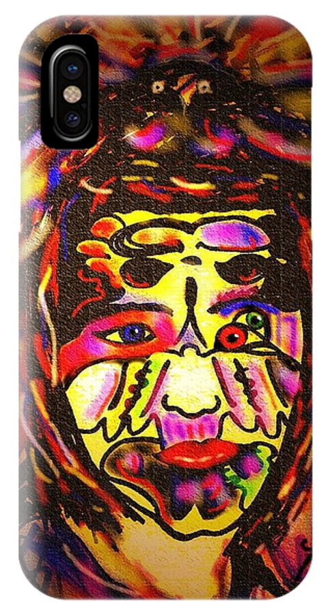 Man IPhone X Case featuring the painting All Seeing Eye by Natalie Holland