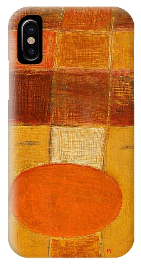 Abstract IPhone X Case featuring the painting All The Way by Habib Ayat