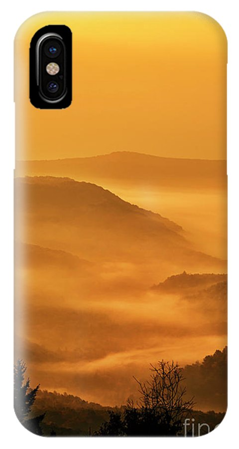 Sunrise IPhone X Case featuring the photograph Allegheny Mountain Sunrise Vertical by Thomas R Fletcher