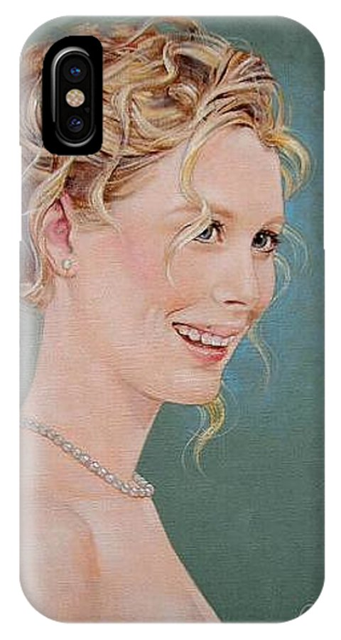 Wedding IPhone X Case featuring the painting Allison by Jerrold Carton